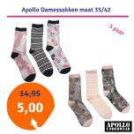 Dagaanbieding Apollo Damessokken 3-pack