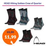 Dagaanbieding HEAD Hiking Sokken Crew of Quarter