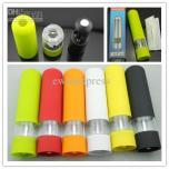 2x kleurrijke elektrische peper- en zoutmolens