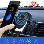 Car Mount Autohouder + Qi Draadloze Oplader en GPS Tracker