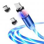 1 Meter Magnetische Lichtvloeiende Oplaadkabel voor iPhone