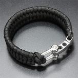 Stoere Survival Mannen Armband in 3 kleuren met RVS sluiting