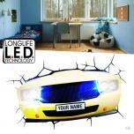 3D Muscle Car Light 3D LED Lamp